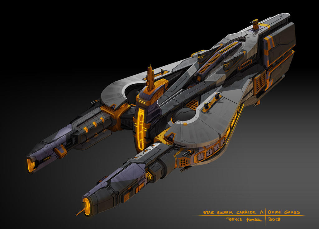 Star Swarm  - Carrier A concept by zombat
