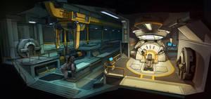 XCOM: EW Cybernetics Lab Concept by zombat