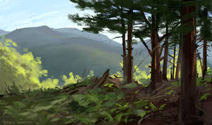 Plein Air Sketch 6.12.18 by zombat