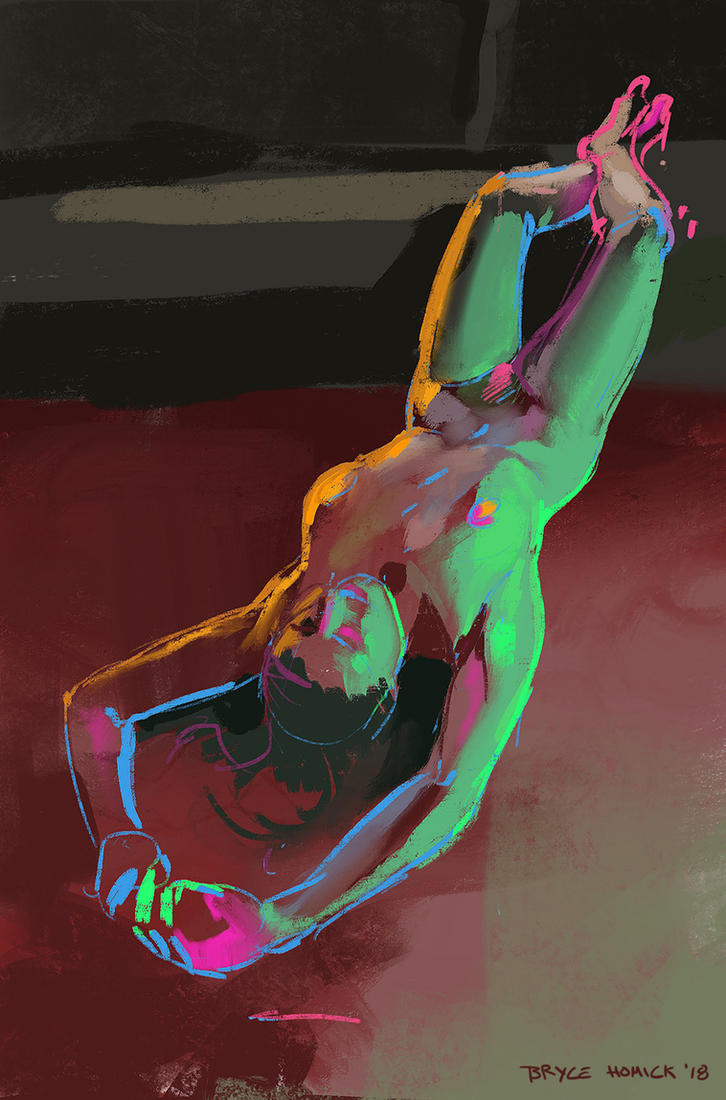 Life Drawing - 7.18.18 by zombat