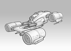 Gaitori Gunship Re-imagine by zombat