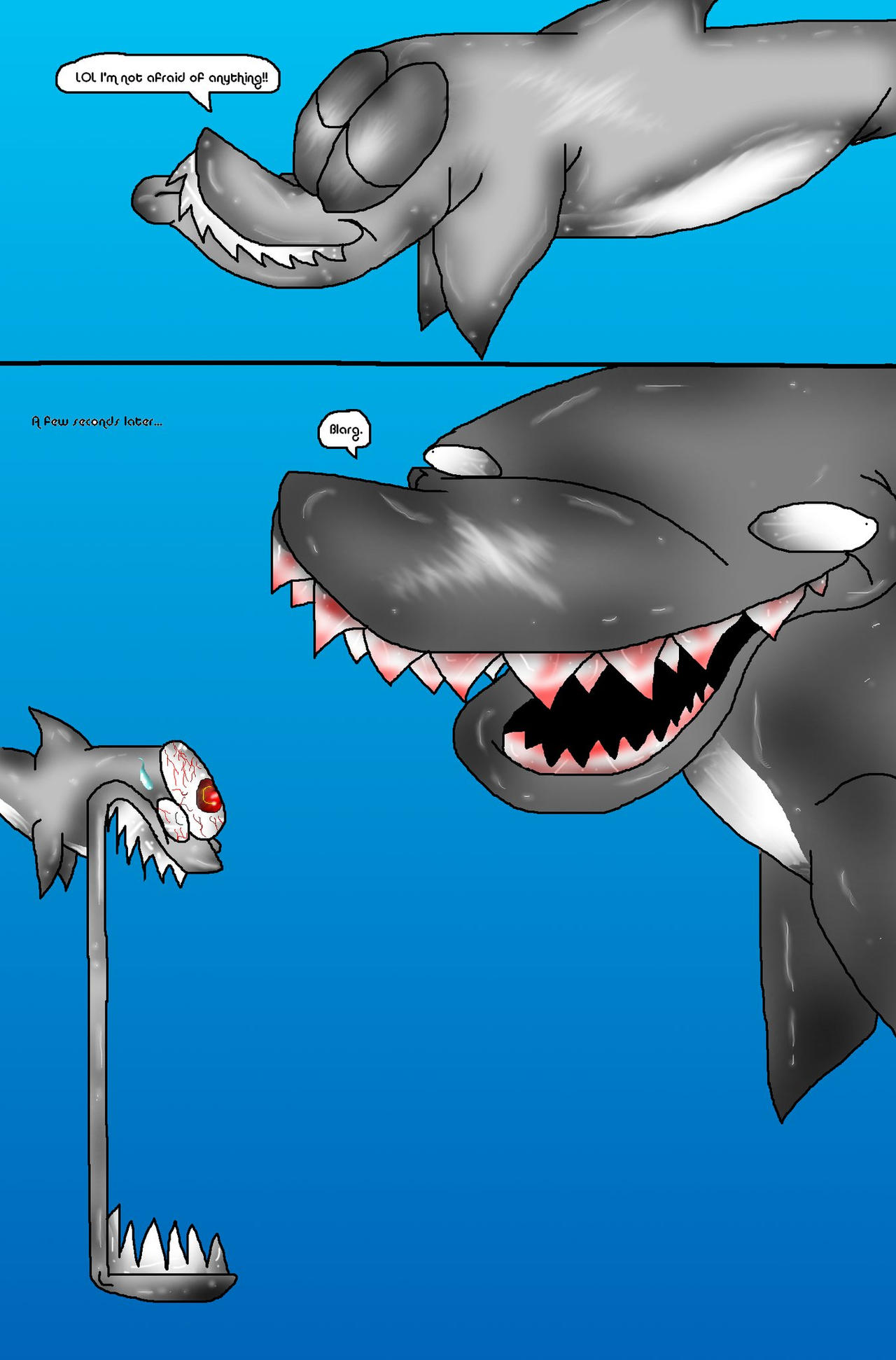 Megalodon shark jaw size