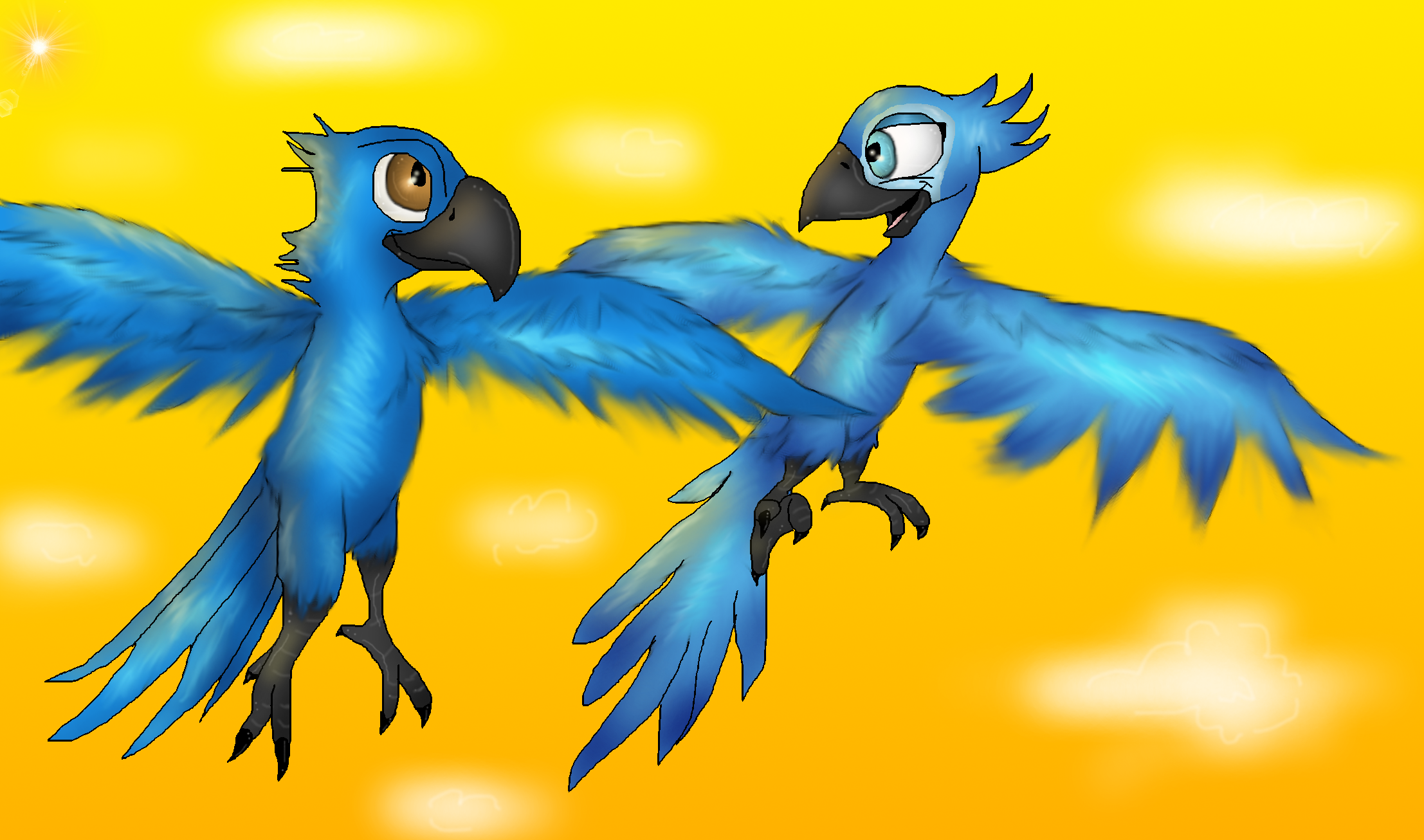 Rio Deviantart: Blu And Jewel By PlagueDogs123 On DeviantArt