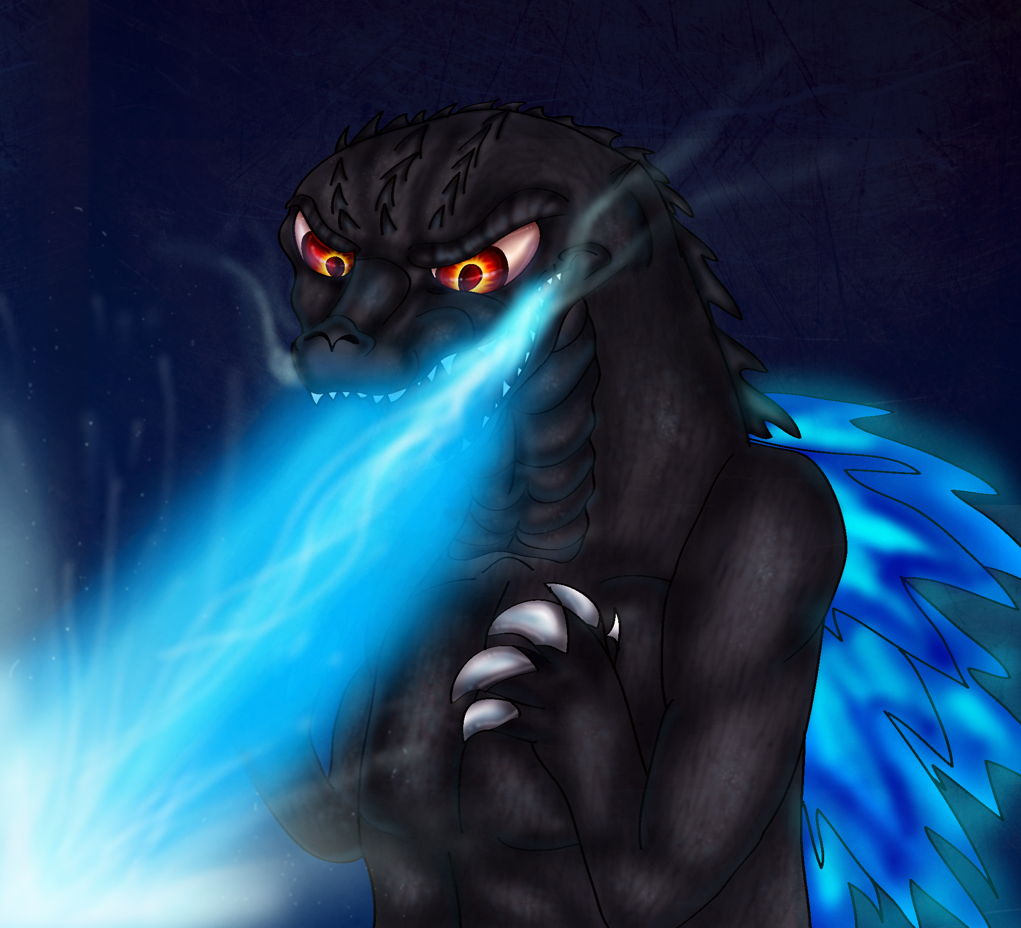 Godzilla's Atomic Breath by PlagueDogs123 on DeviantArt