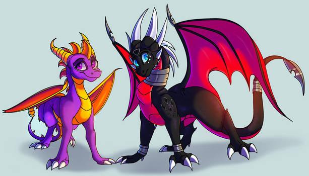 Spyro and Cynder - Genderbend