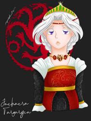 Queen Jaehaera Targaryen by myredplanet