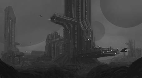 Space Colony | Environment Concept Art