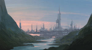 Sci-Fi Elven City | Environment Concept Art
