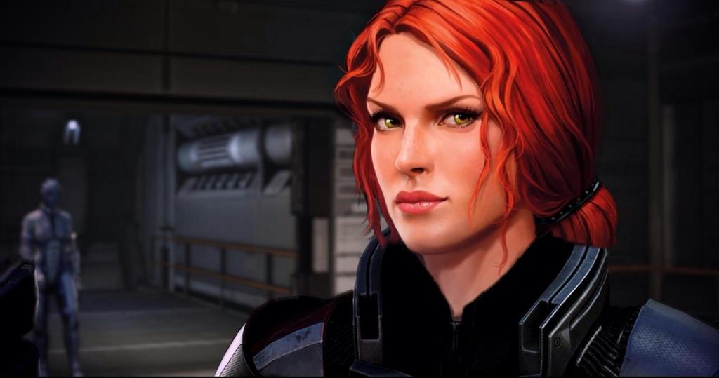 Triss Merigold as Shepard by Razz8