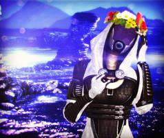 Tali with Flowers by Razz8