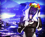 Tali with Flowers