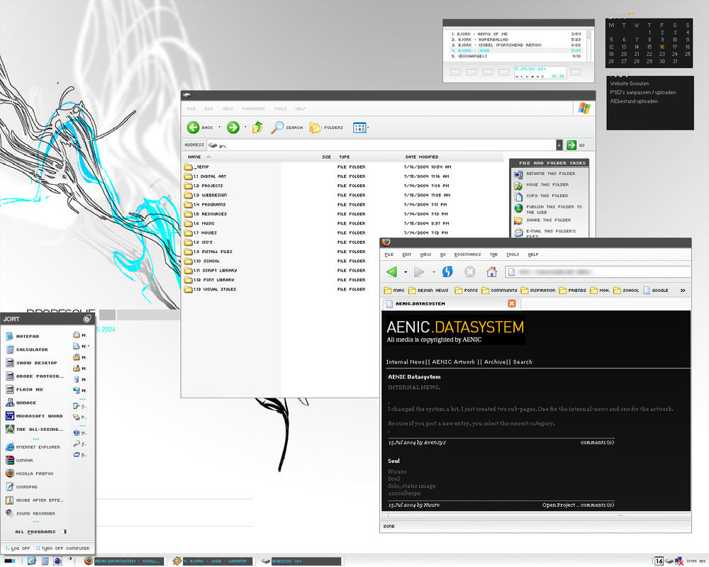 Aven'sys Desktop by darulian