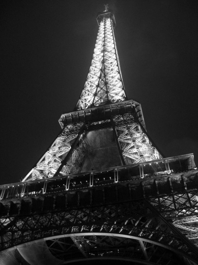 bonjour paris black and white by TheDawnWanderer