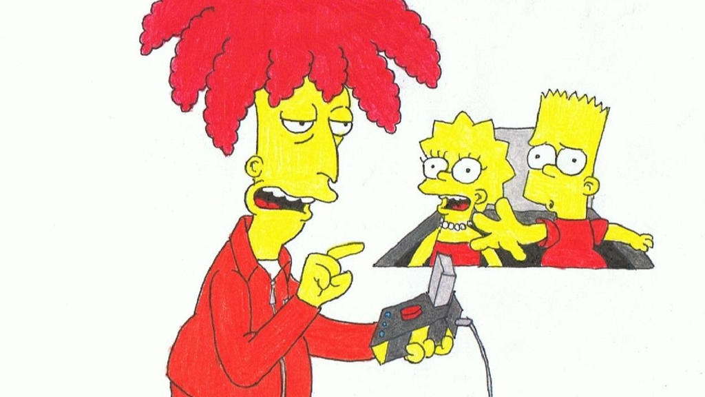 Drawing #32 - Sideshow Bob's Last Gleaming by SIMPSONSDRAWER