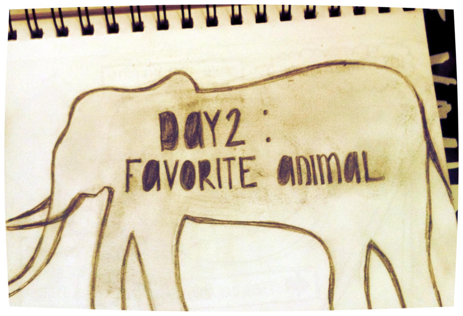 30 Day Drawing Challenge - Day 02: Favorite Animal by calidearie