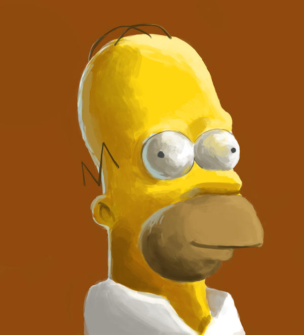 Homer Simpson by AdventGecko