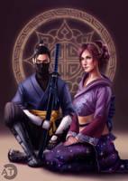 [CM] Melysande and Ryu by bearcub