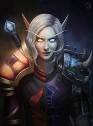 [CM] Fae'rin Sundragon Blood elf/DK by bearcub