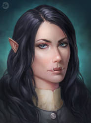 [CM] Witcher oc portrait
