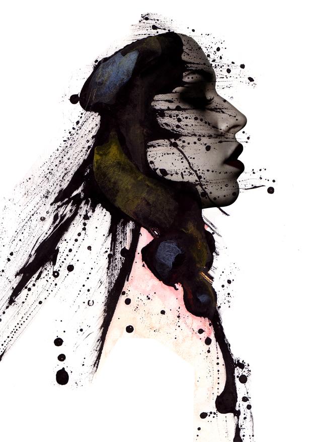 Ink portrait 01 by gmdawid on DeviantArt