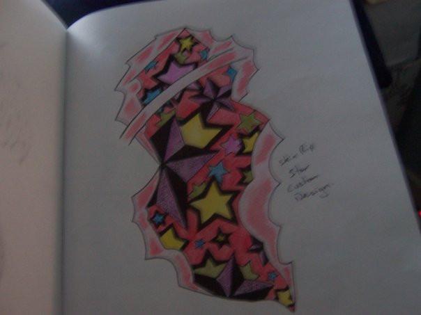 star tattoo skin tear by milly2108 on deviantart. Black Bedroom Furniture Sets. Home Design Ideas