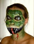 Body painting - snake