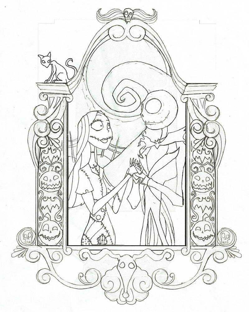 jack and sally The Nightmare Before Christmas Sally And Jack Drawings