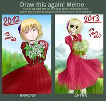 Draw This Again Meme - Liechtenstein by AwesomeHikari