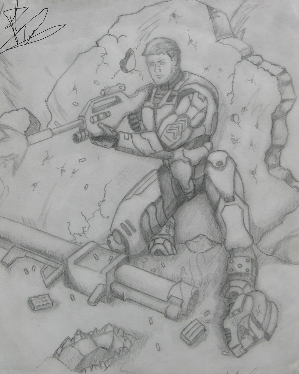 Cornered Spartan by Sofa-King-Leet