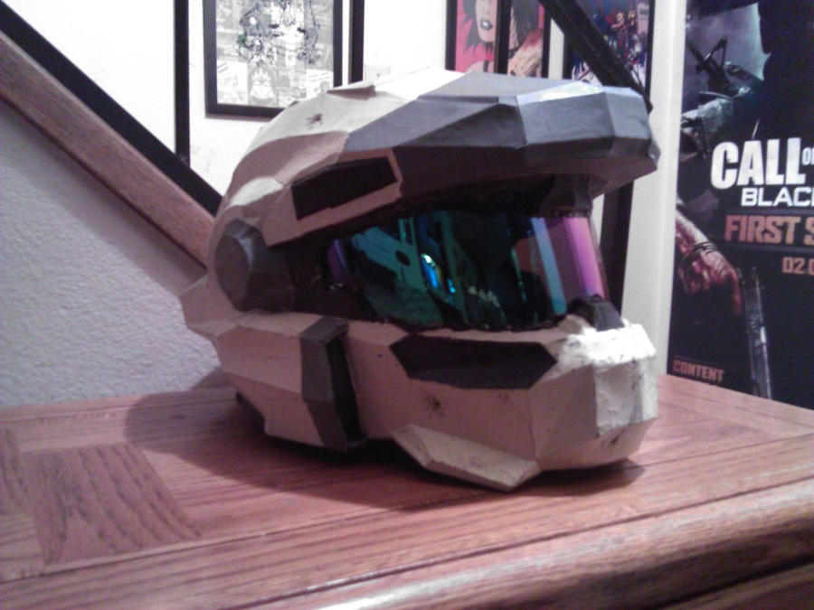 Finished Halo Reach Jorge Helmet by ZombieGrimm
