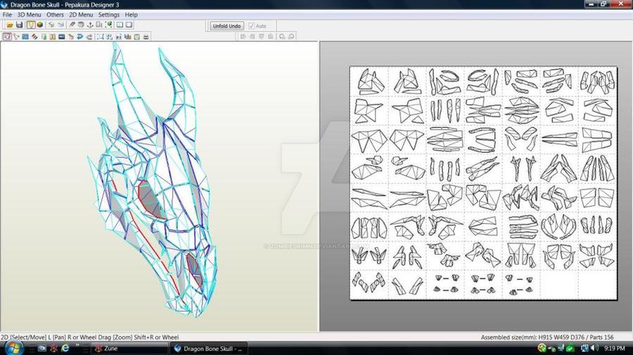 Skyrim Dragon Bone Skull Download by ZombieGrimm