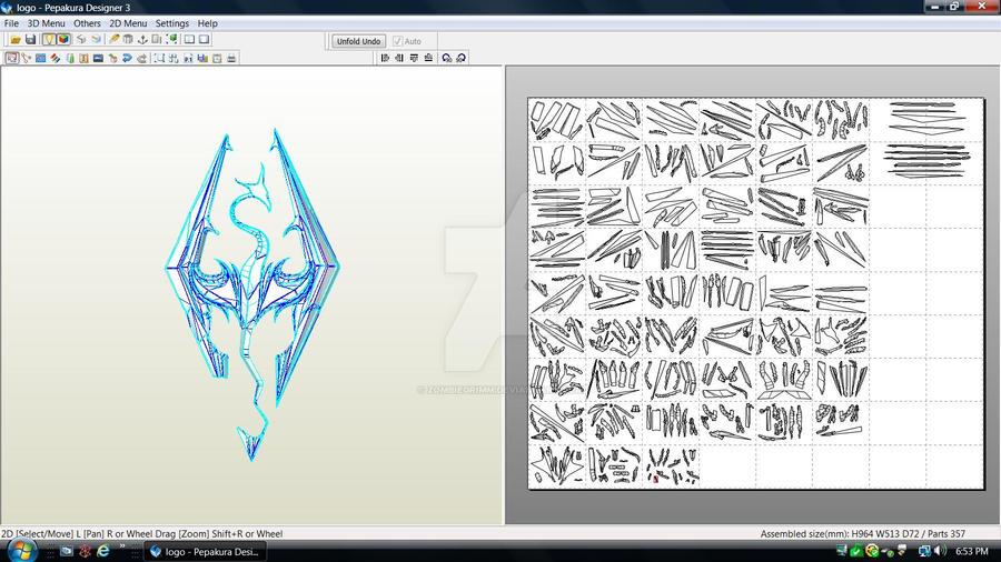Skyrim Logo Download by ZombieGrimm