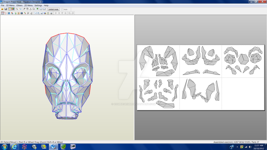 Skyrim Dragon Priest Mask Download by ZombieGrimm