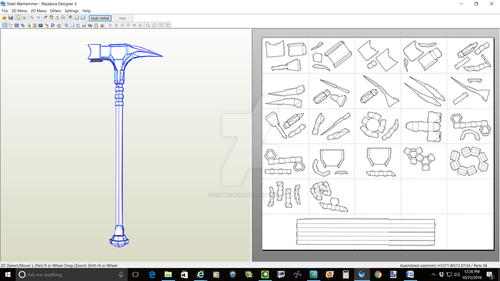 Steel War Hammer by ZombieGrimm