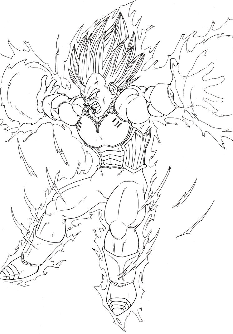 Vegeta Final Flash By ElyasArts On DeviantArt