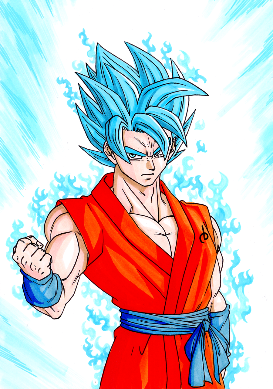 Saiyan God Super Saiyan Goku by ElyasArts on DeviantArt