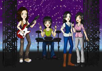 Rockin' with guitar hero by KattyJL