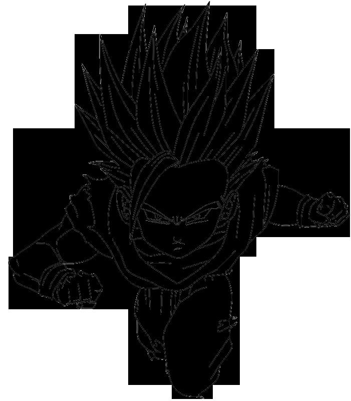 Gohan SSJ2 Lineart by RikuSawada on DeviantArt