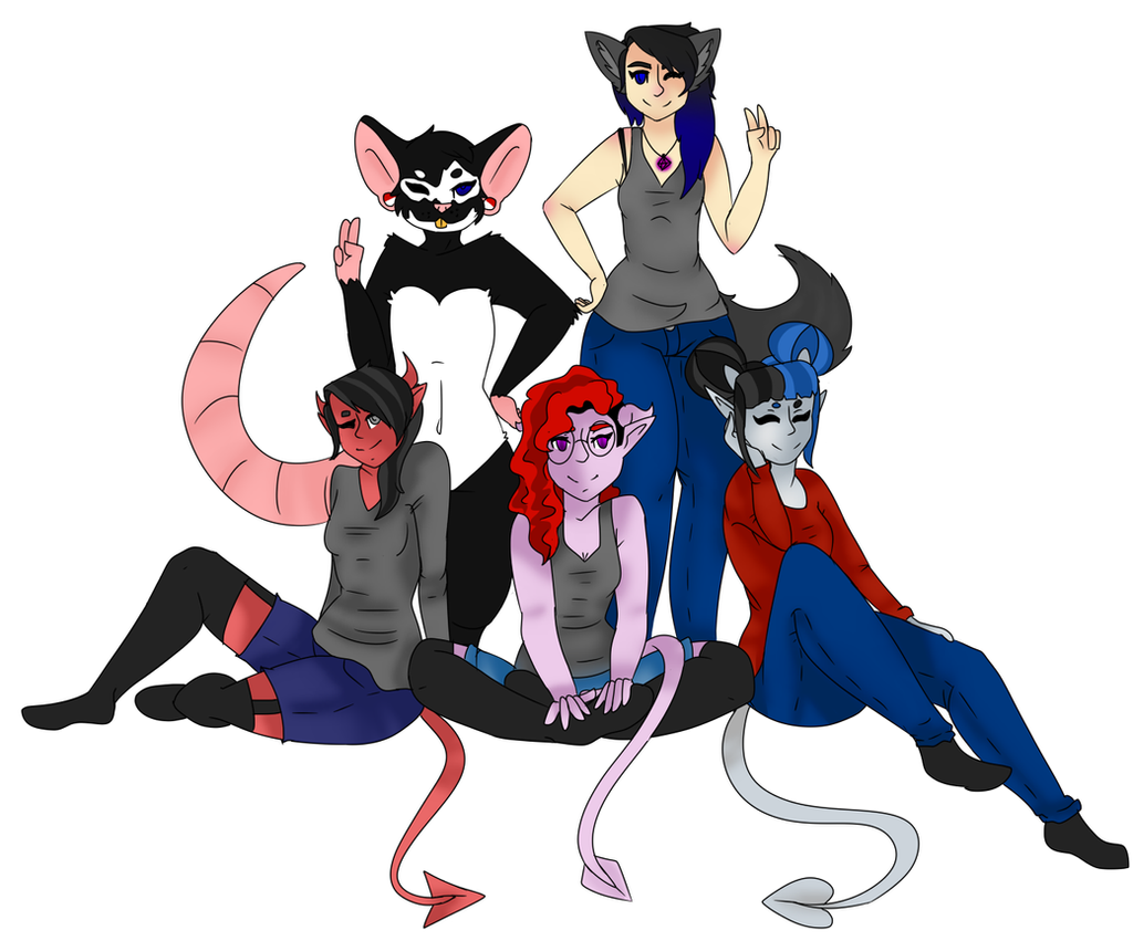 All original characters group picture by BuckshotBandit