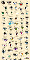 Anime Eyes Poster (Colored)