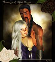 Daenerys and Khal Drogo by Ranlinde