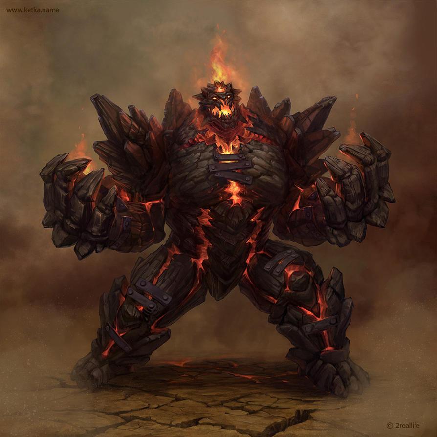 hell golem by kingtobar