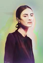 .Portrait study (random colors) by Enayol