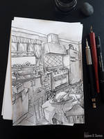 .Inktober 3 - Roasted by Enayol