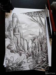 .(late) Inktober 25 - Prickly by Enayol