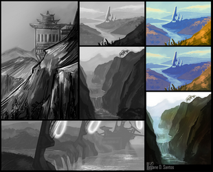 .Environments - values study III by Enayol