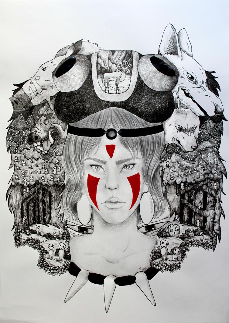 Princess Mononoke by ManonSoyer