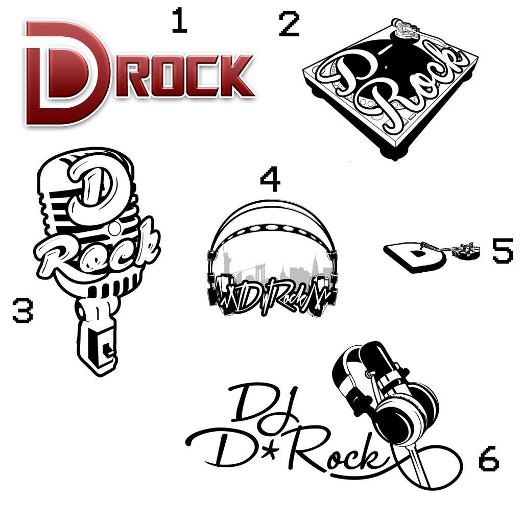 Dj Logo Design Free Online Dj d rock logo concepts. by