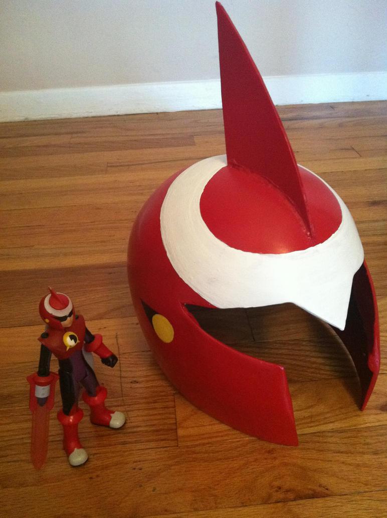 Protoman.exe Helmet WIP by JexisLulzington