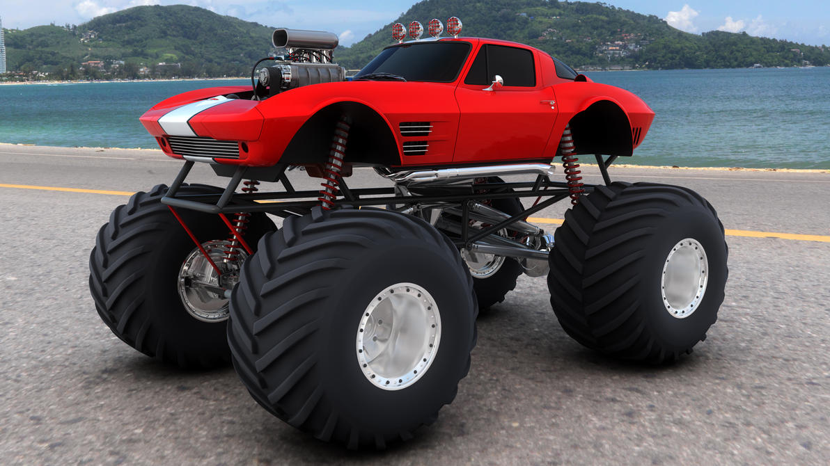 Corvette Monster Truck By Samcurry On Deviantart